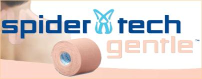 Spider Tech Gentle Kinesiology Tape for Sensitive Skin