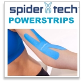 Spider Tech Power Strips Precut Kinesiology Tape Strips